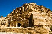 Obelisk Tomb and Bab As-Siq Triclinium ruins city Petra, Jordan