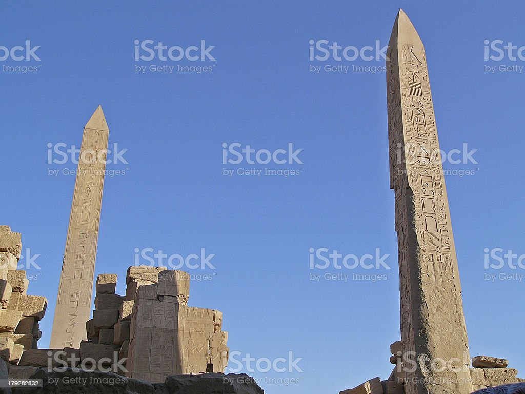 Obelisks Luxor Egypt royalty-free stock photo
