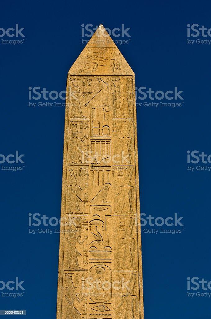 Obelisks Luxor Egypt stock photo