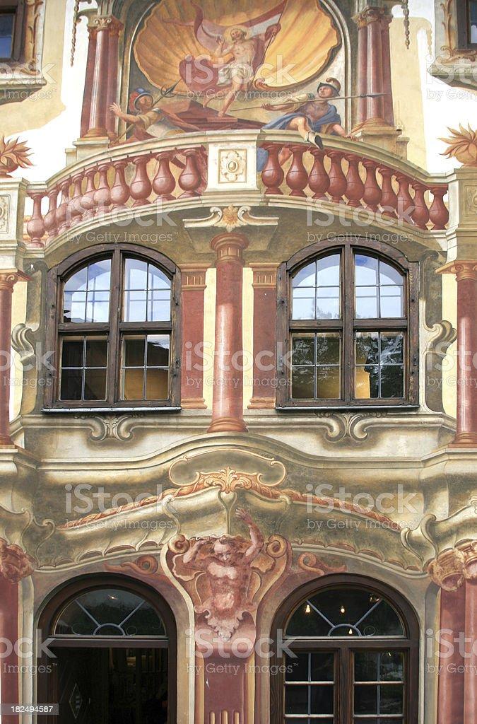 Oberammergau in Bavaria, Germany - Trompe L'oeil stock photo
