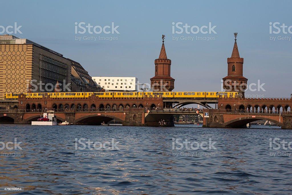 oberbaum bridge (Oberbaumbruecke) , berlin, kreuzberg / friedrichshain stock photo