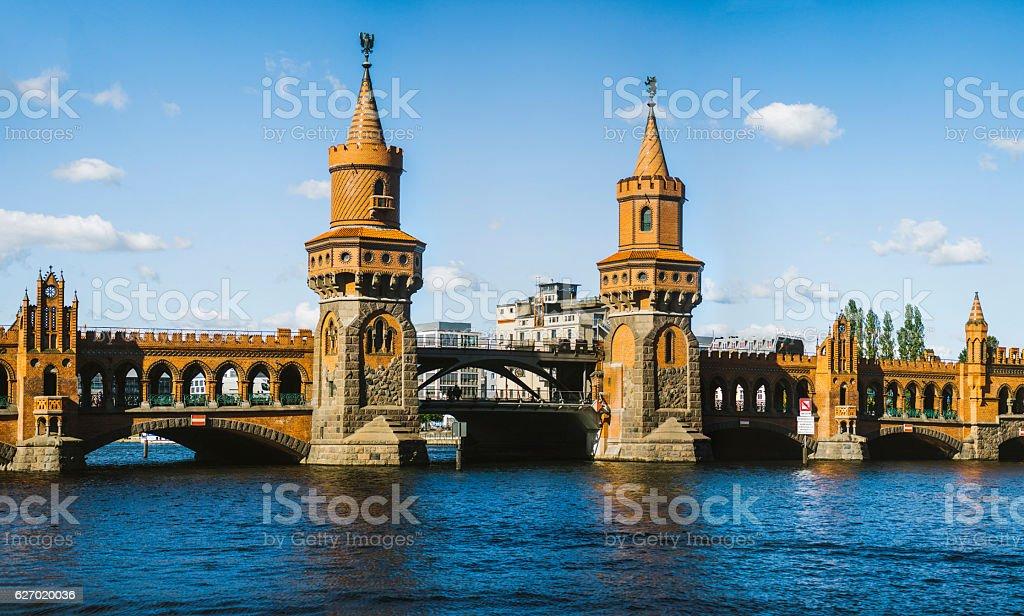 Oberbaum Bridge, Berlin. stock photo
