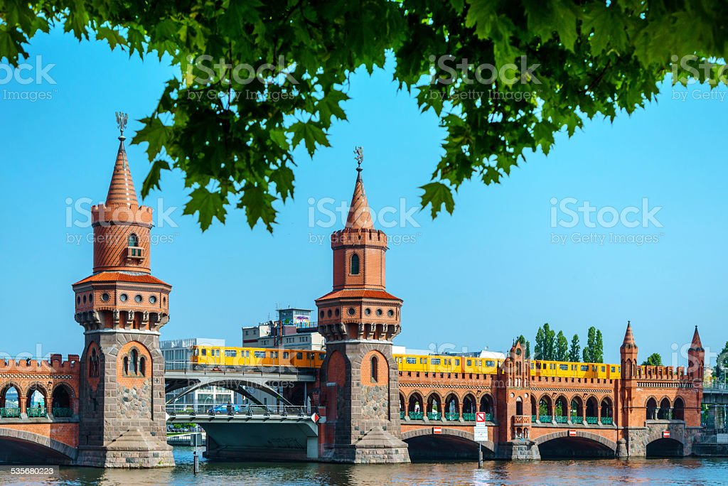 Oberbaum Bridge in Berlin, Germany stock photo
