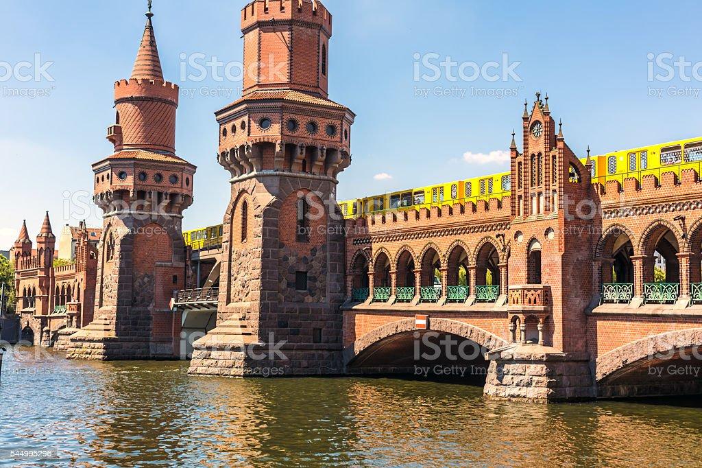Oberbaumbrücke in Berlin stock photo