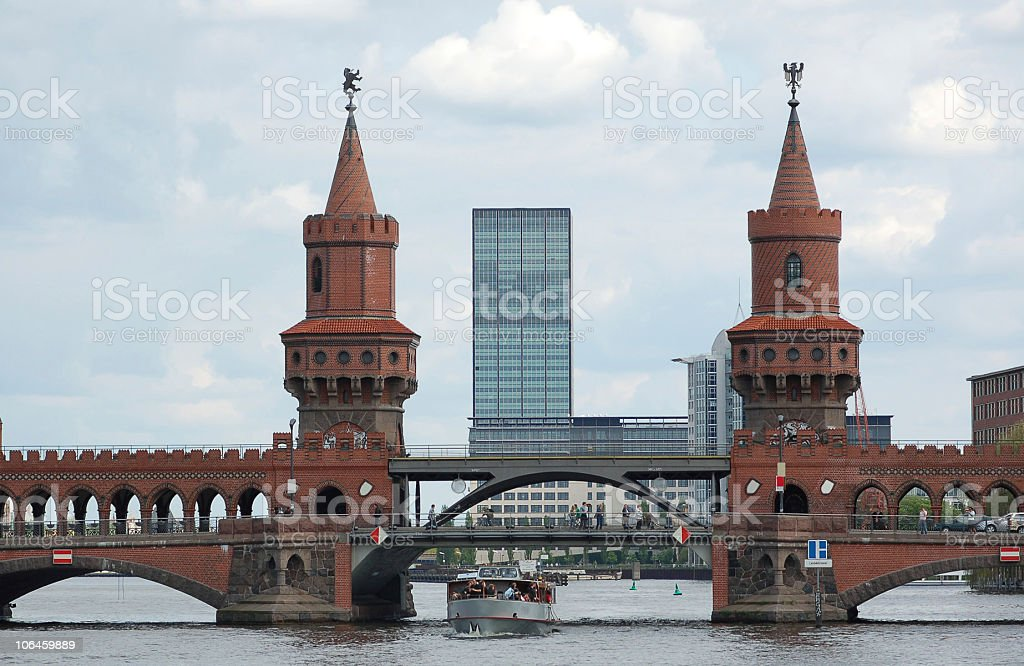 Oberbaumbruecke in Berlin royalty-free stock photo