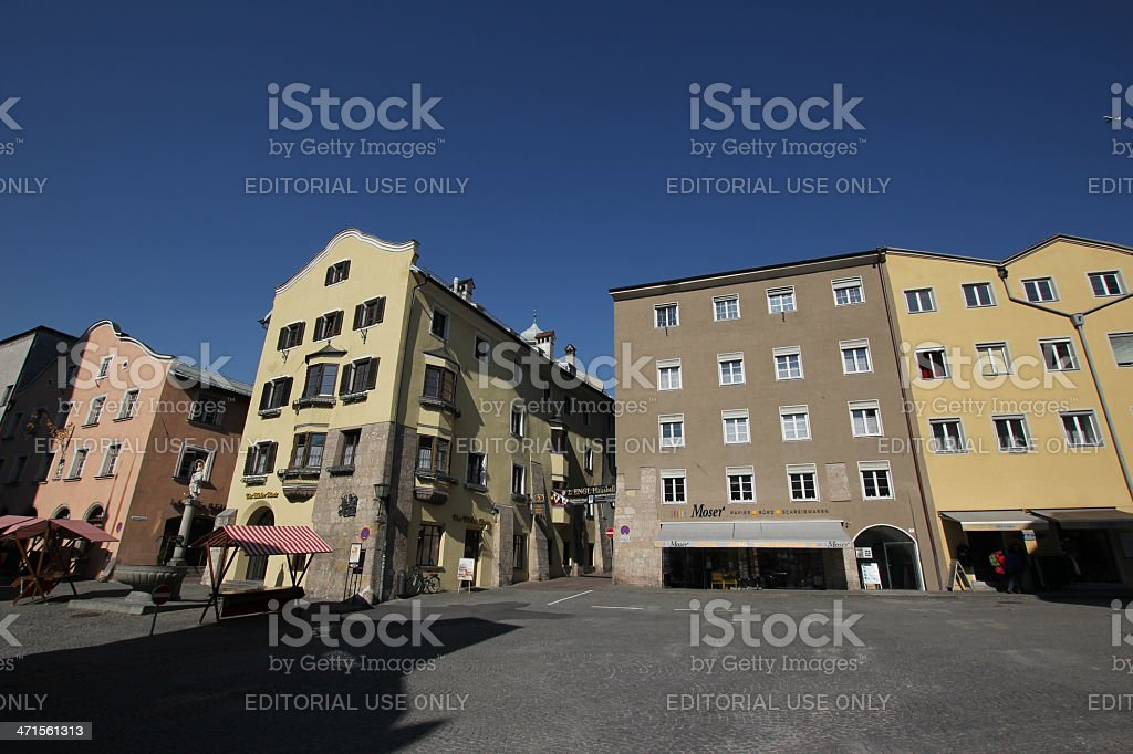 Oberer Stadtplatz of Historic city Hall in Tyrol, Austria royalty-free stock photo