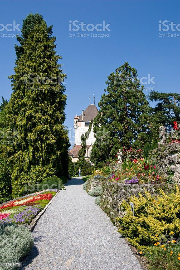 Oberhofen castle royalty-free stock photo