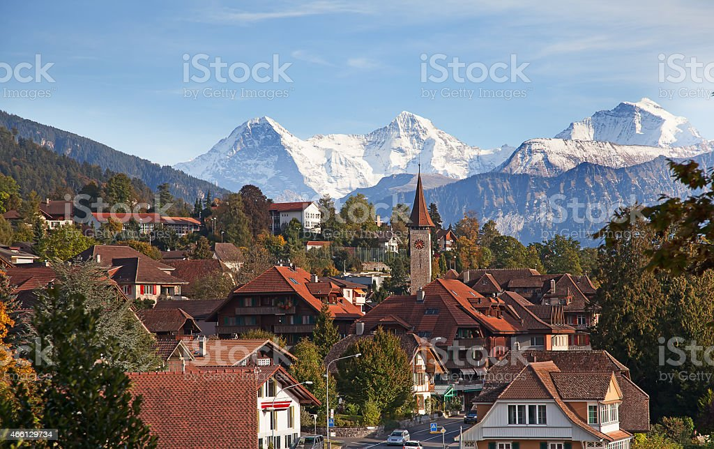 Oberhofen stock photo