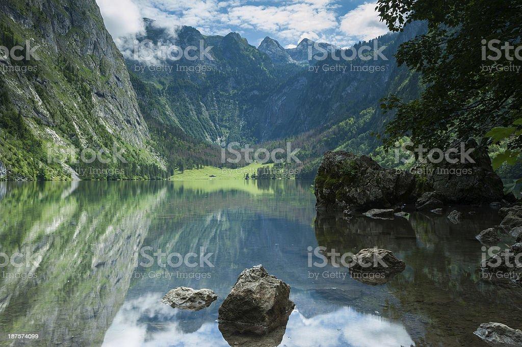 Obersee, Bavarian Scenery royalty-free stock photo