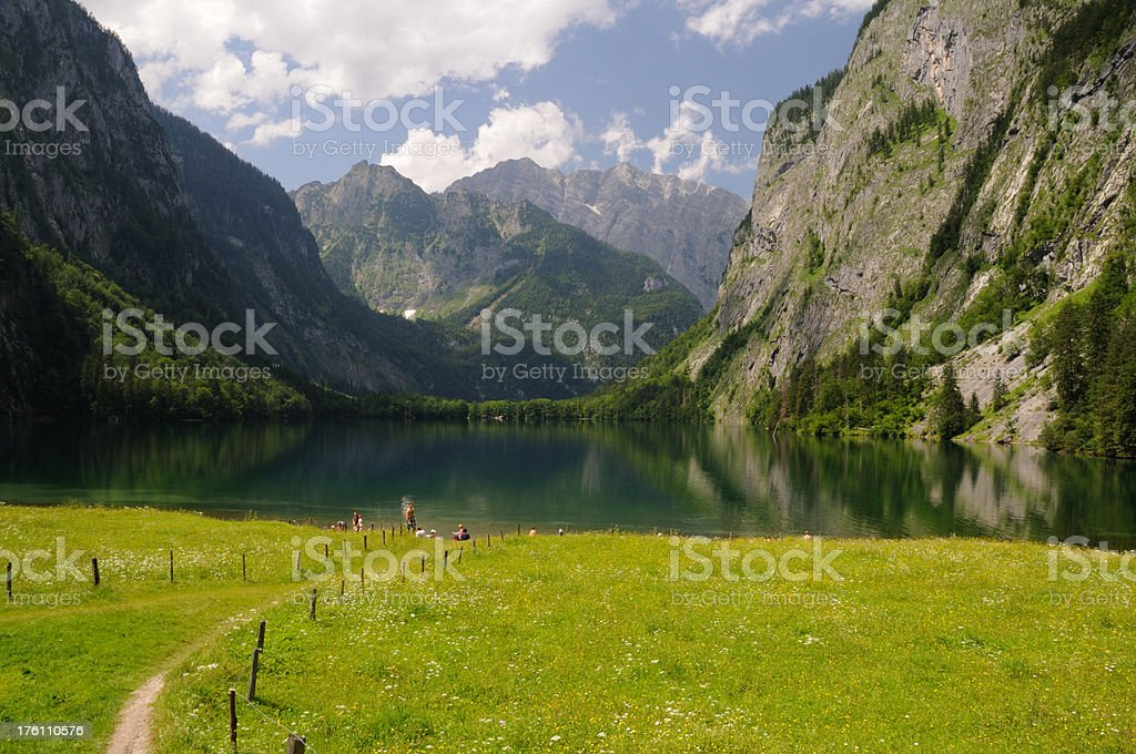 Obersee Berchtesgaden royalty-free stock photo