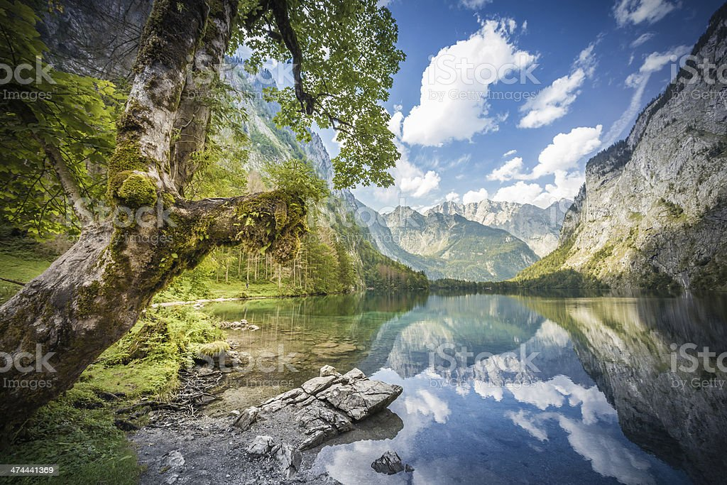 Obersee in Bavaria, Germany stock photo