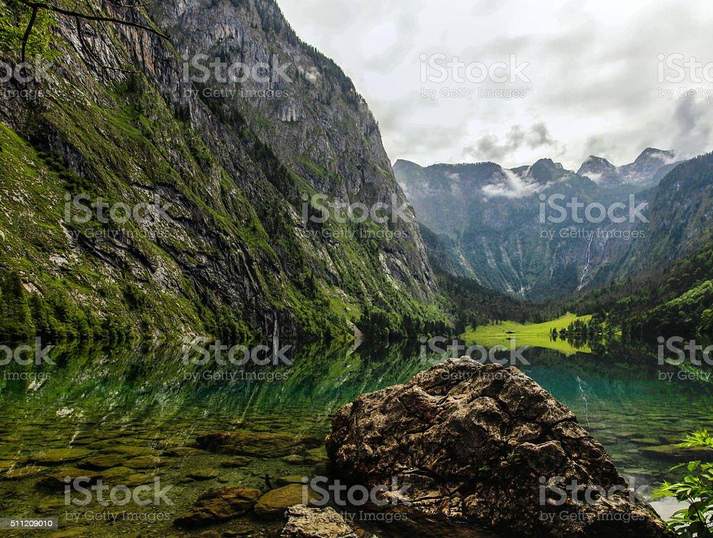 Obersee near Berchtesgaden stock photo