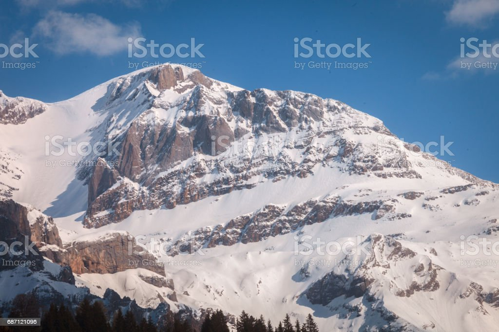 Obersimmental Mountainside Evening stock photo