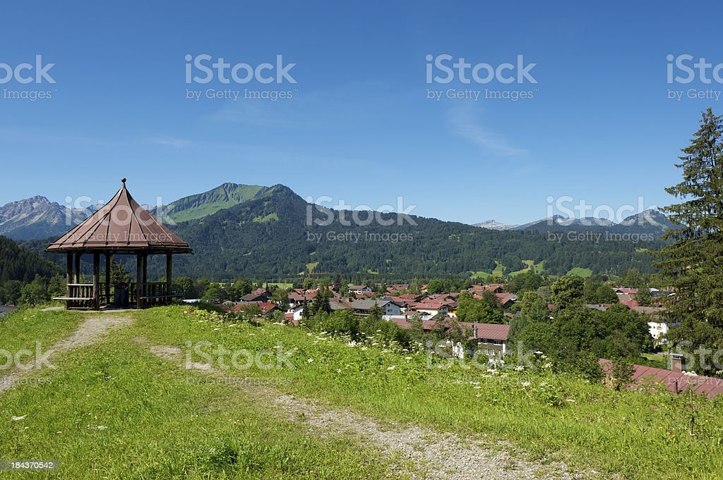 Oberstdorf, Allgäu, Germany royalty-free stock photo