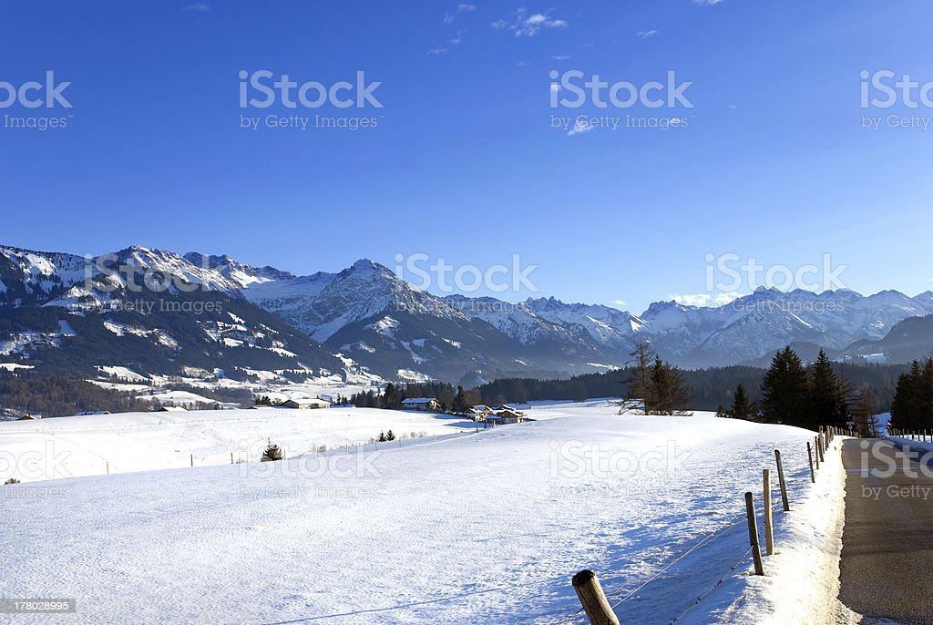 oberstdorf bavarian alps stock photo