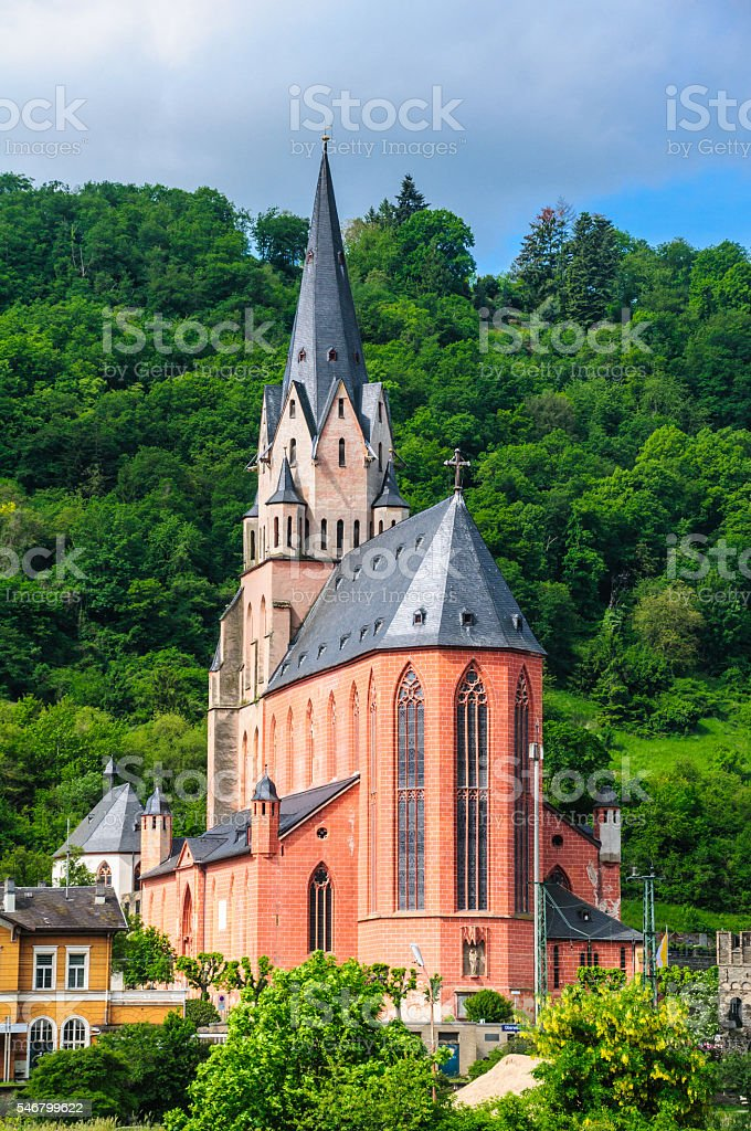 Oberwesel, Germany Church stock photo