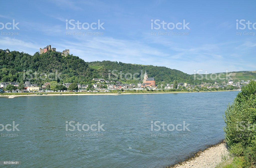 Oberwesel,Rhine River,Germany stock photo