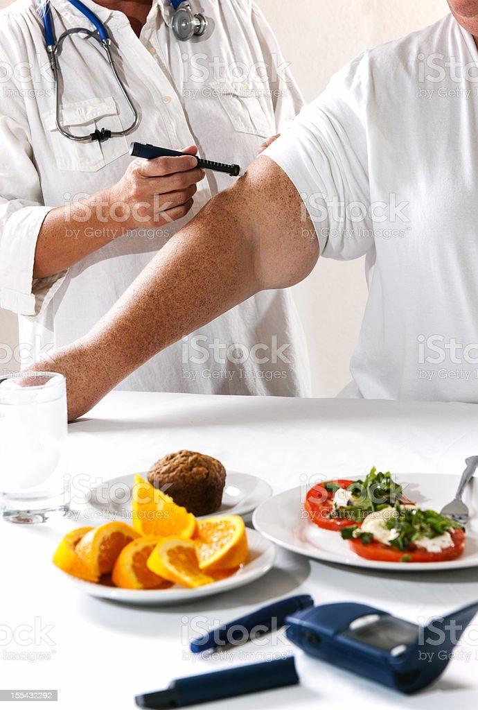 Obese diabetes patient. stock photo