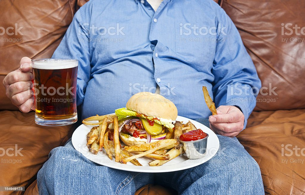Obesity is a major cause of diabetes royalty-free stock photo