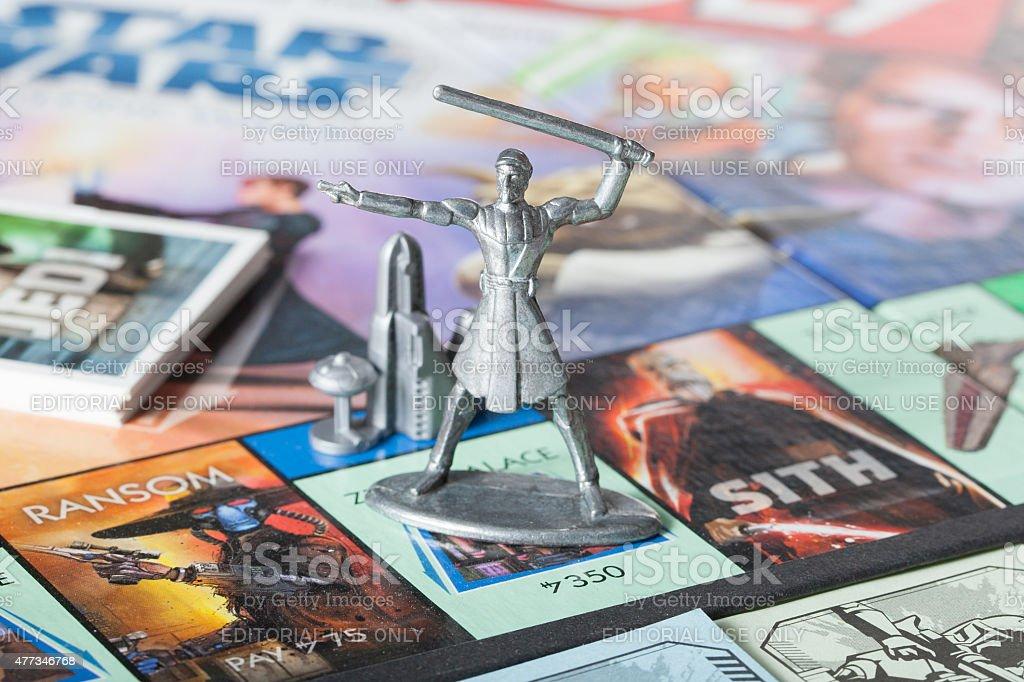Obi-Wan Kenobi-Monopoly figure stock photo