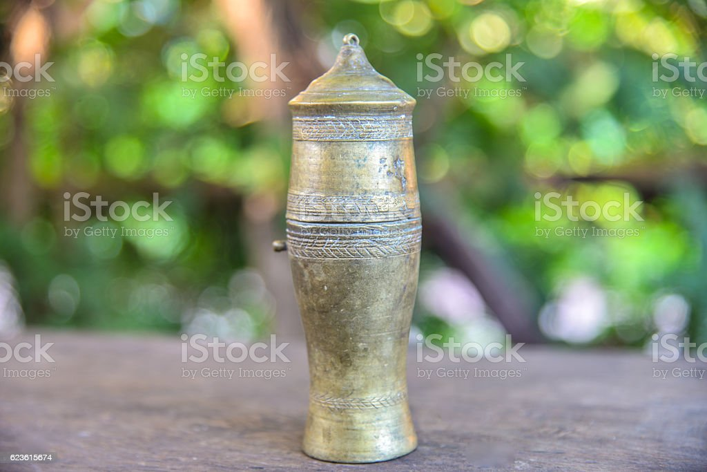 Object vintage on blurred background. stock photo