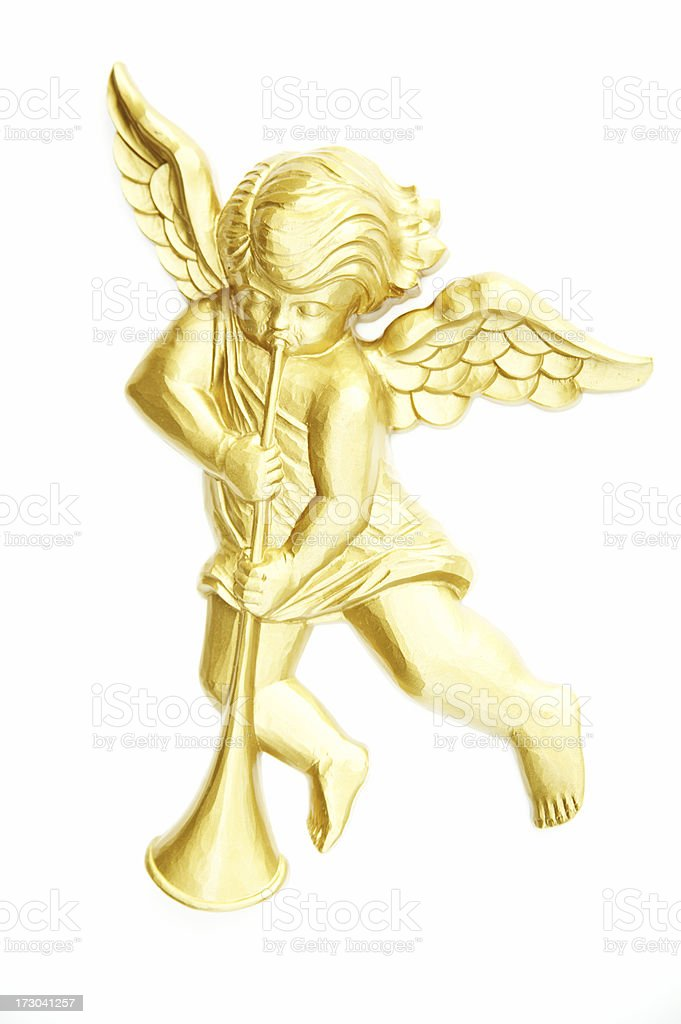Object White Background Plastic Angel stock photo