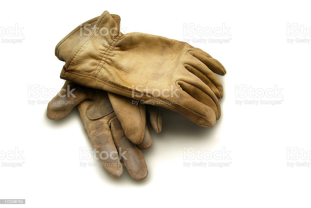 Object: Work Gloves royalty-free stock photo