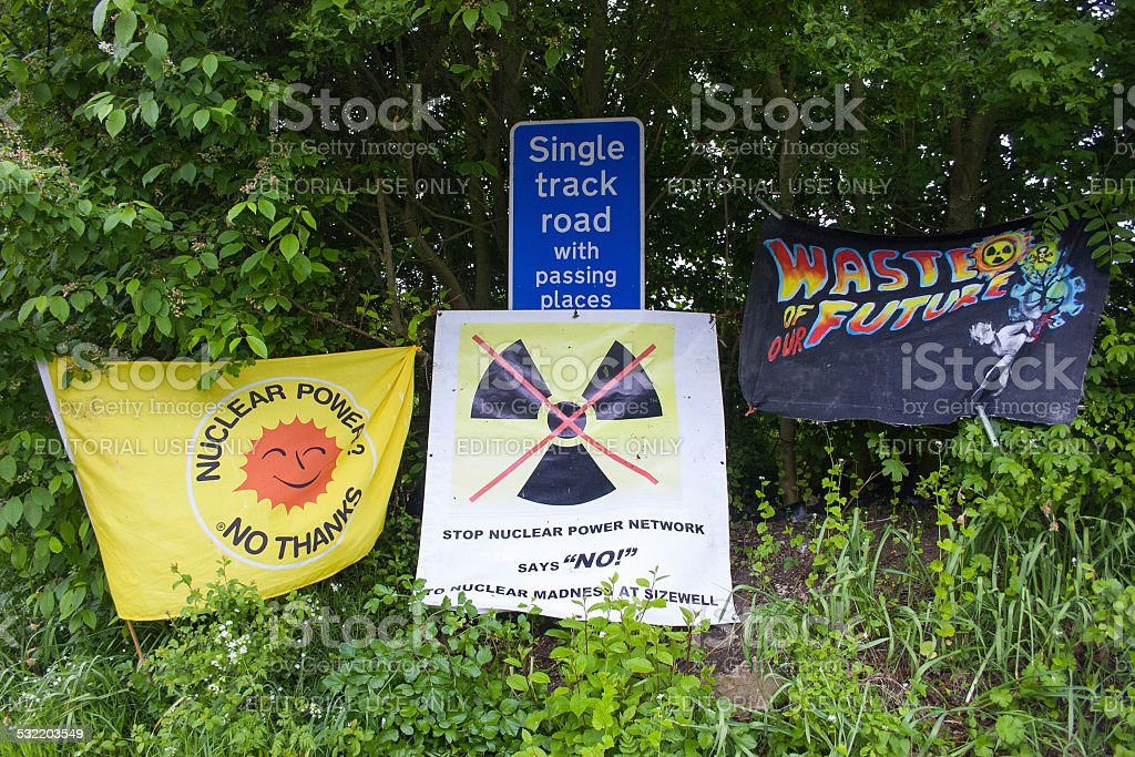 Objections to new nuclear power station, Suffolk stock photo