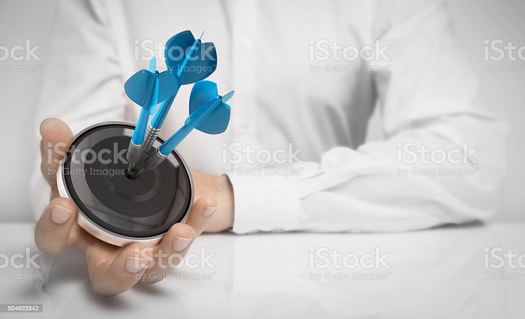 Objective Attained Concept stock photo