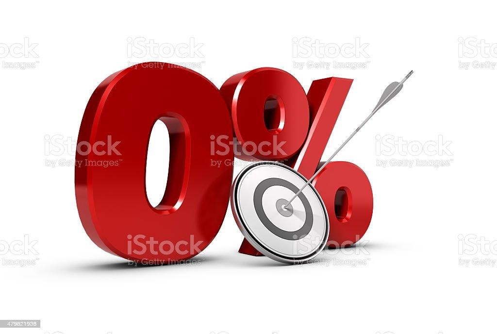 Objective Zero Percent. stock photo