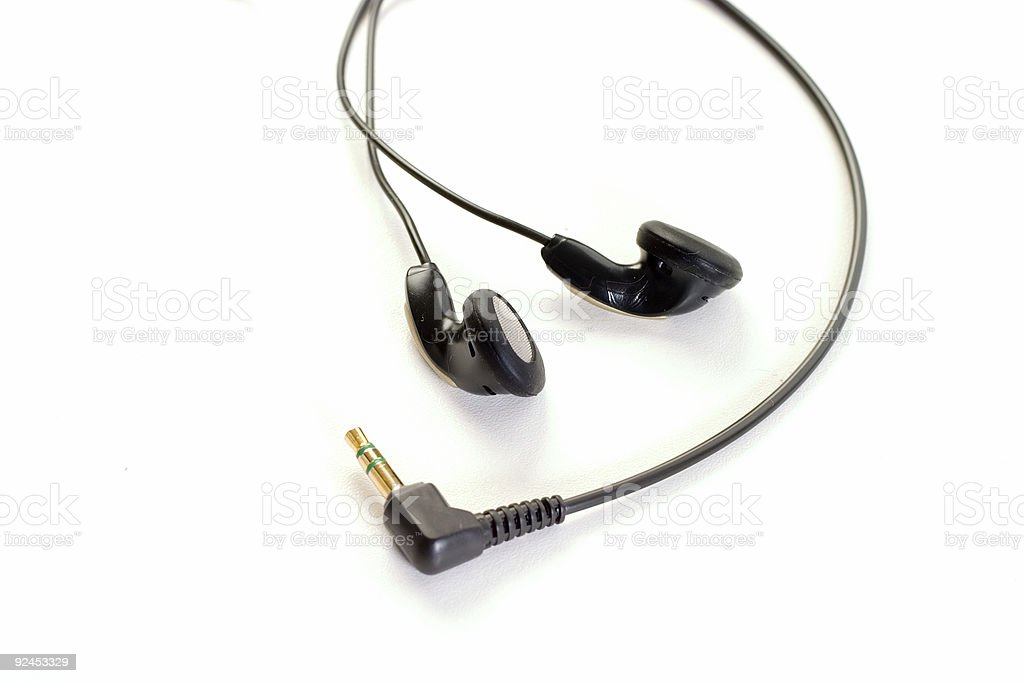 Objects - Ear buds #4 royalty-free stock photo