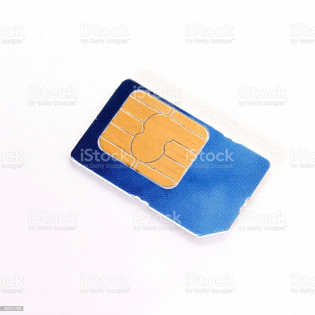 Objects - GSM SIM Card #2 stock photo