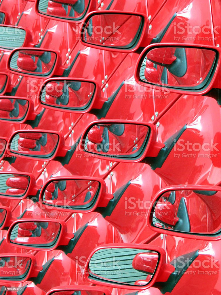 Objects in the rear-view mirror... royalty-free stock photo