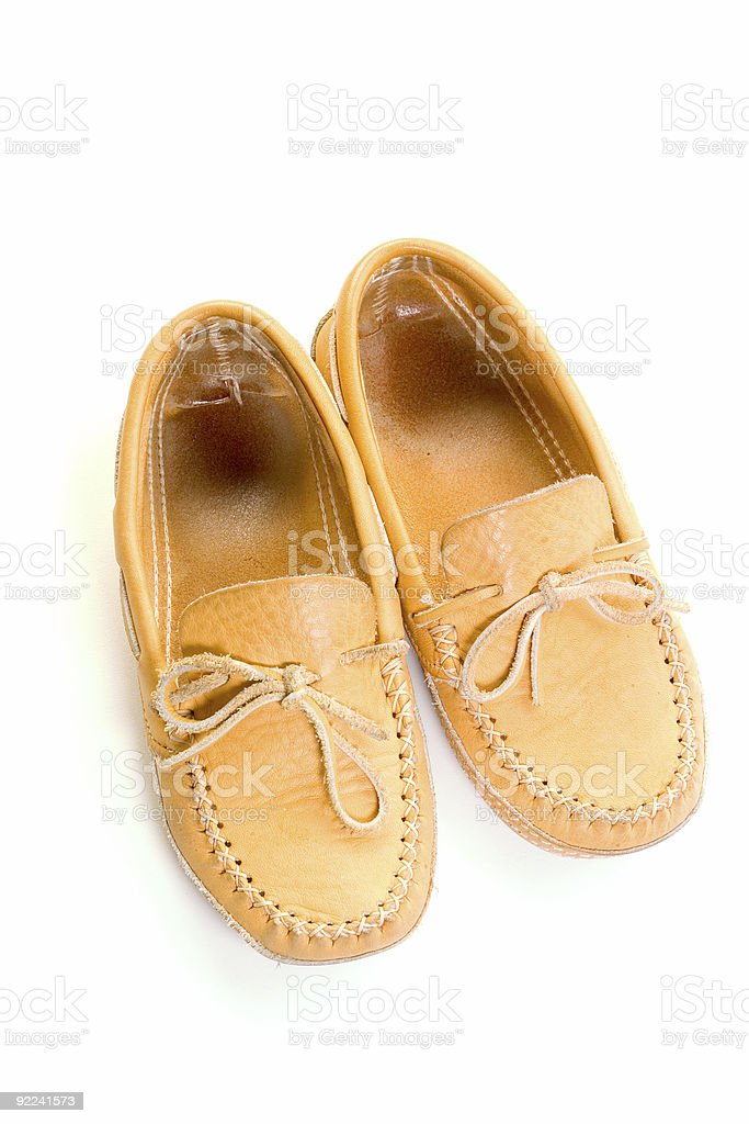 Objects - Isolated Leather Moccasins #4 royalty-free stock photo