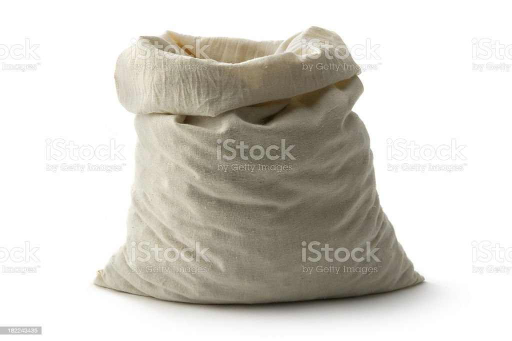 Objects: Linen Sack royalty-free stock photo