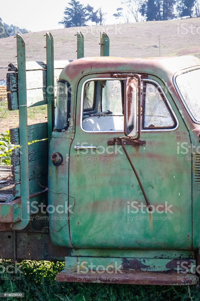 Objects: Old truck stock photo