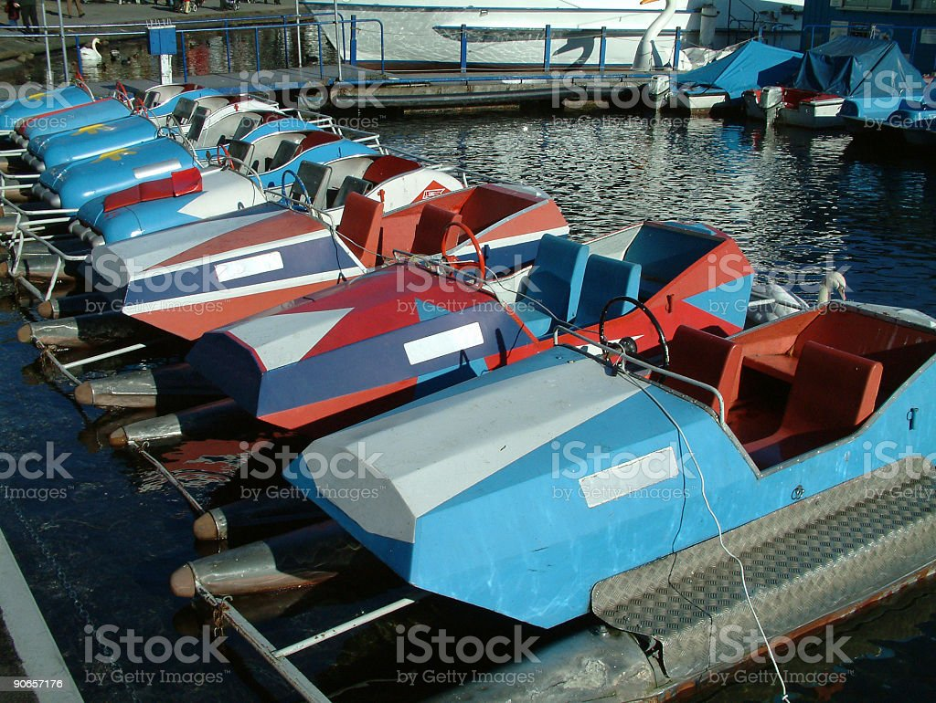 Objects - Paddle Boats royalty-free stock photo