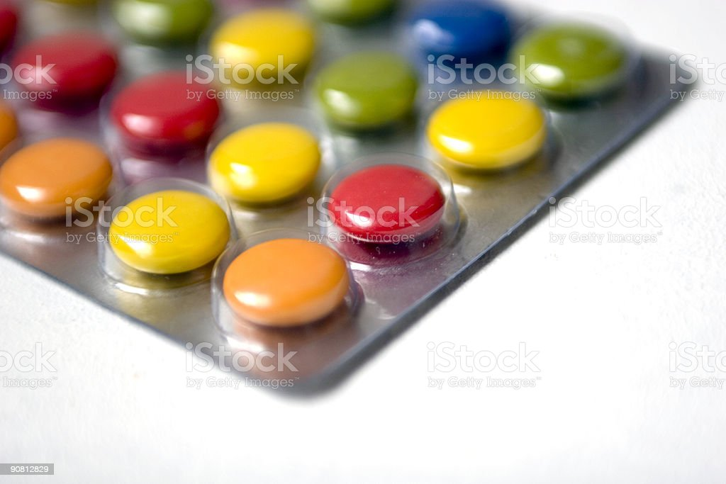 objects - pills (happy color) stock photo