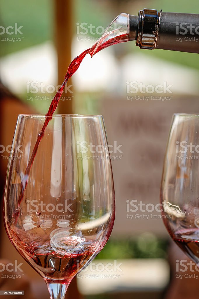 Objects: Pouring Wine stock photo