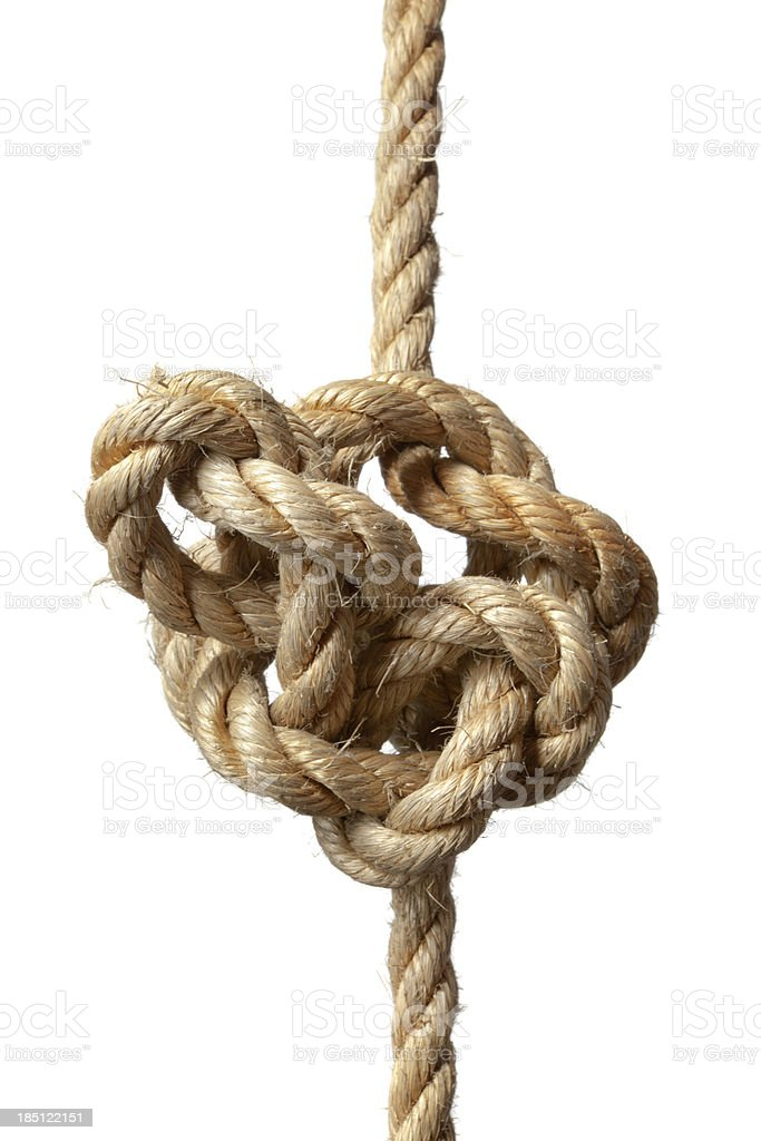 Objects: Rope with Knot stock photo