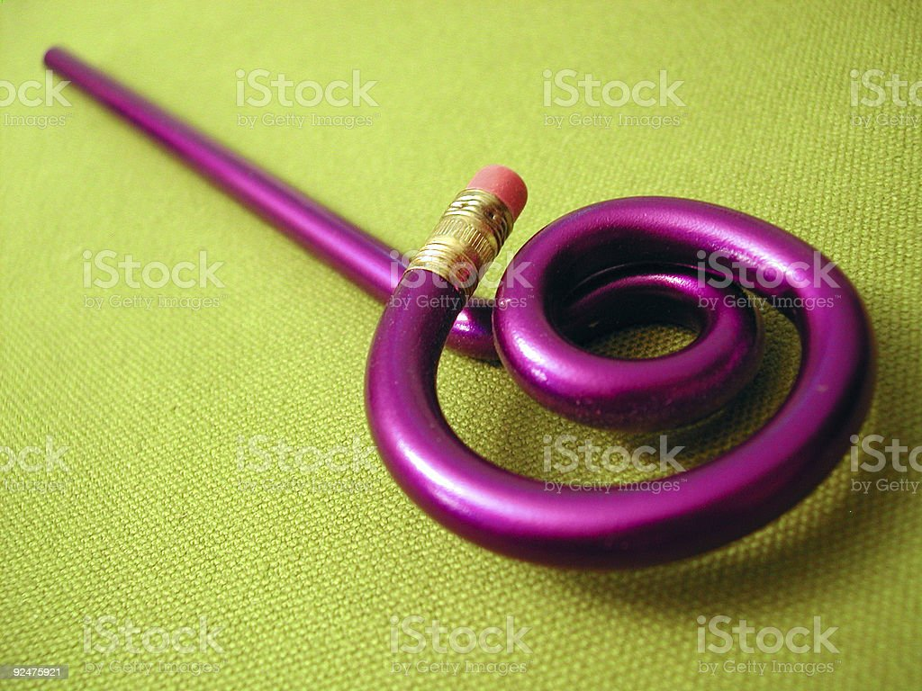 Objects - Twirly Pencil royalty-free stock photo