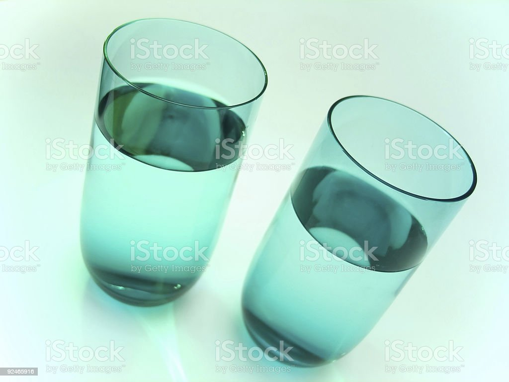 Objects > Water Glasses 2 stock photo