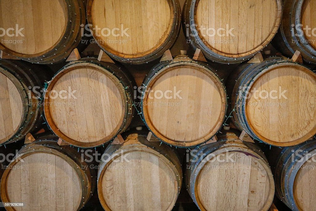 Objects: Wine barrells stock photo