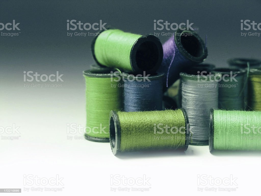 objects: yarn bobbins royalty-free stock photo