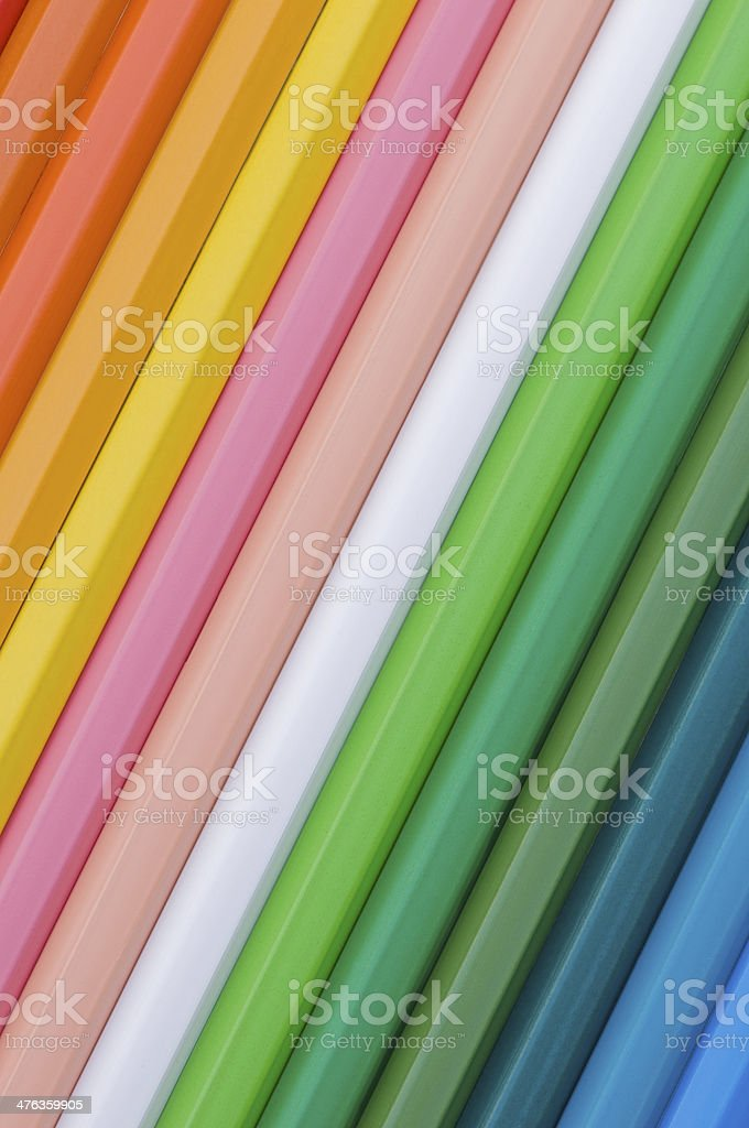 oblique color pencils royalty-free stock photo