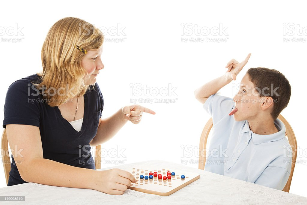 Obnoxious Little Brother stock photo