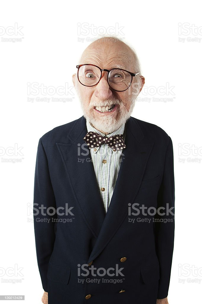Obnoxious Senior Man stock photo