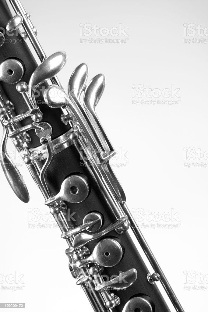 Oboe Clarinet Isolated On White stock photo