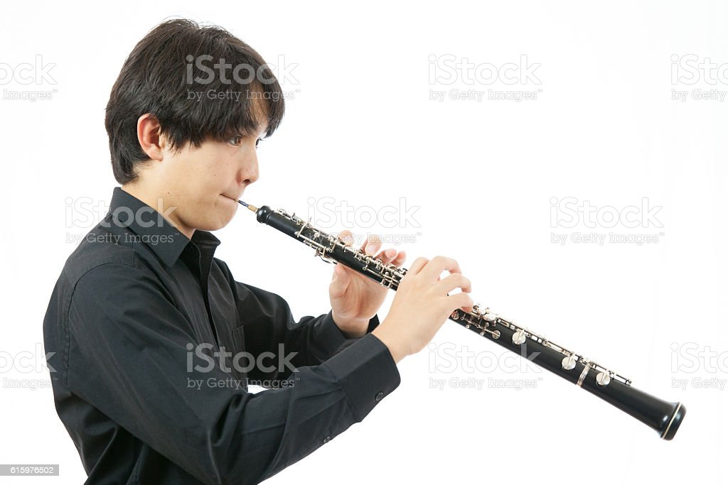 Oboe Musician stock photo