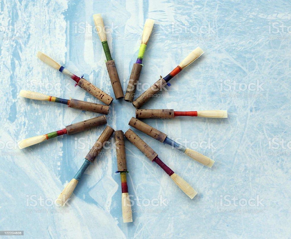 Oboe Reeds stock photo